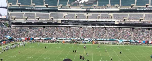 Lincoln Financial Field, section: C1, rangée: 4, siège: 1