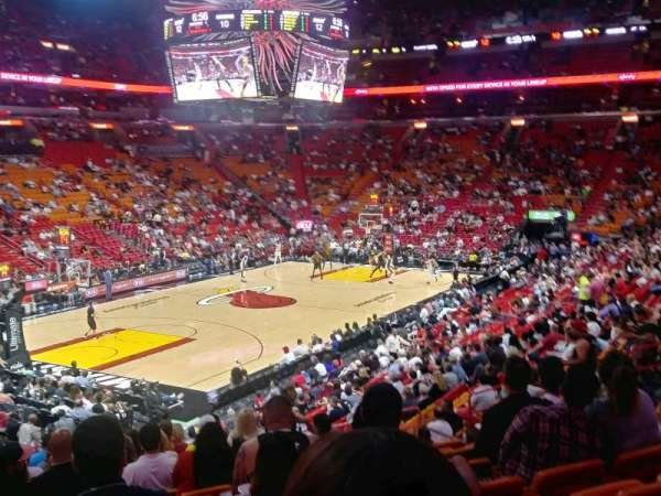 American Airlines Arena, section: 122, rangée: 27, siège: 10