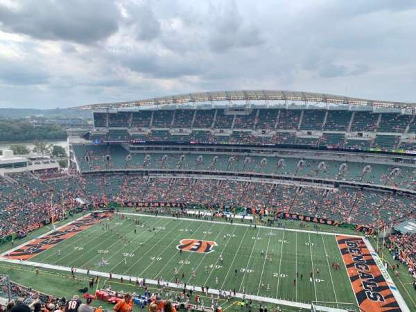 Paul Brown Stadium, section: 338, rangée: 24, siège: 5