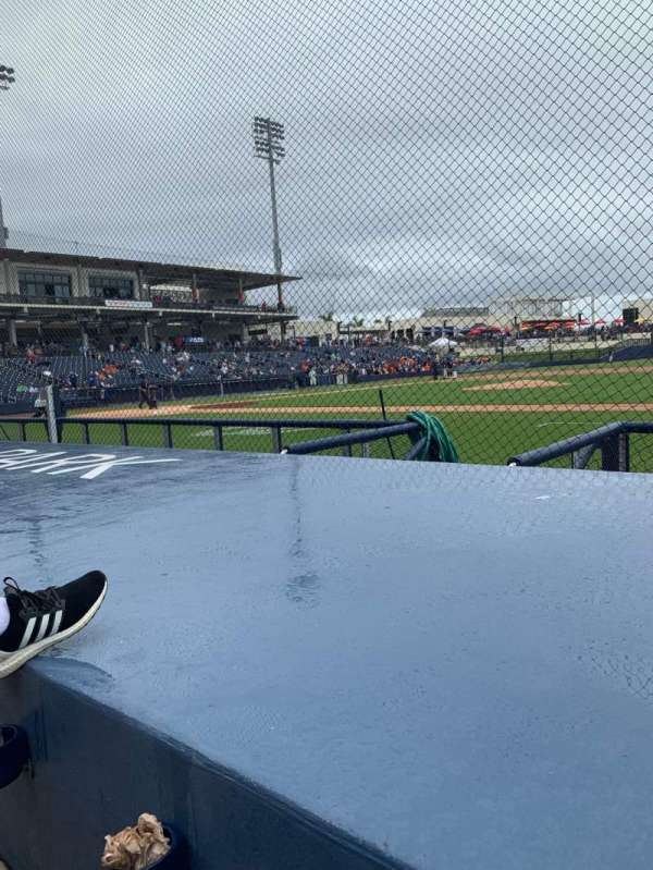 FITTEAM Ballpark of the Palm Beaches, section: 115, rangée: F, siège: 4