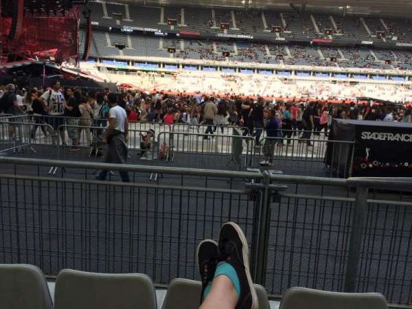 Stade De France, section: S7, rangée: 3 (front row, siège: 18
