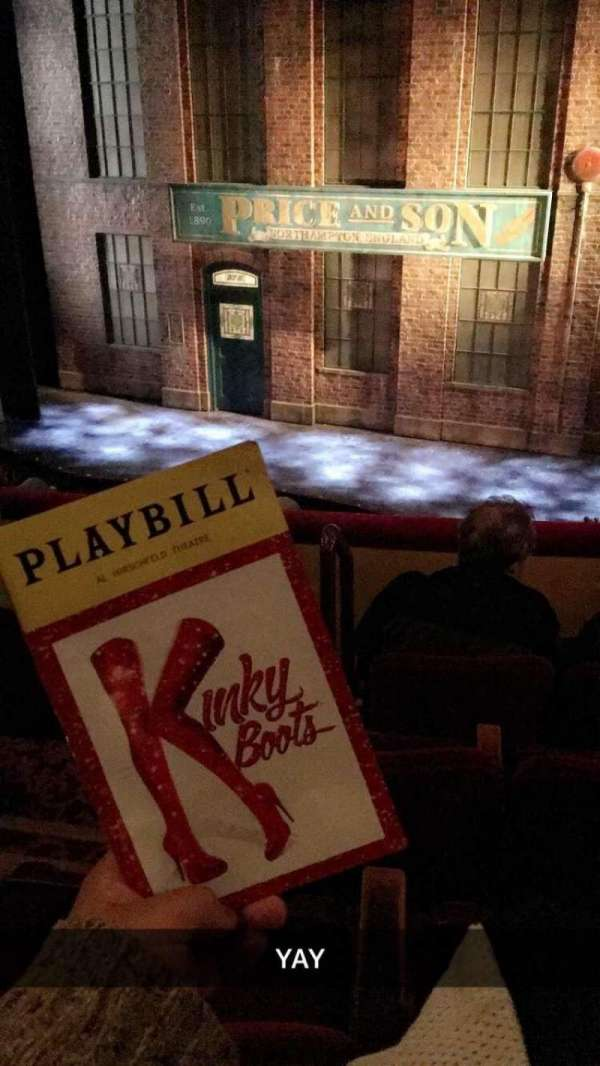 Al Hirschfeld Theatre, section: MezzRight, rangée: D, siège: 4