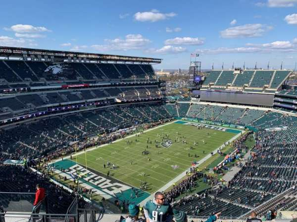 Lincoln Financial Field, section: 218, rangée: 17, siège: 14