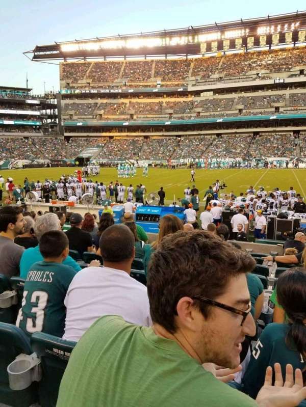Lincoln Financial Field, section: 101, rangée: 7