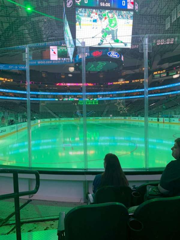 American Airlines Center, section: 113, rangée: C, siège: 1