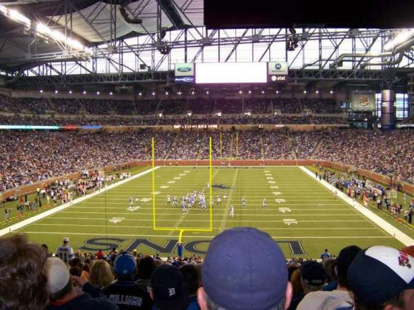 Ford Field, section: 138, rangée: 42, siège: 12