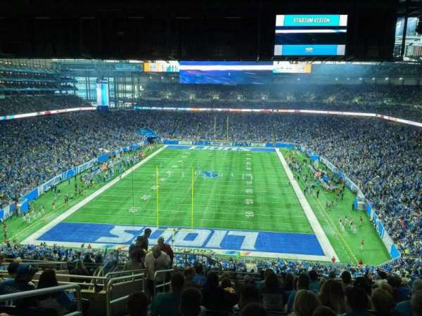Ford Field, section: 319, rangée: 13, siège: 3