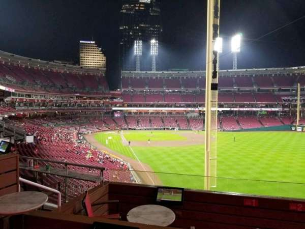 Great American Ball Park, section: Party Box 7, siège: 1
