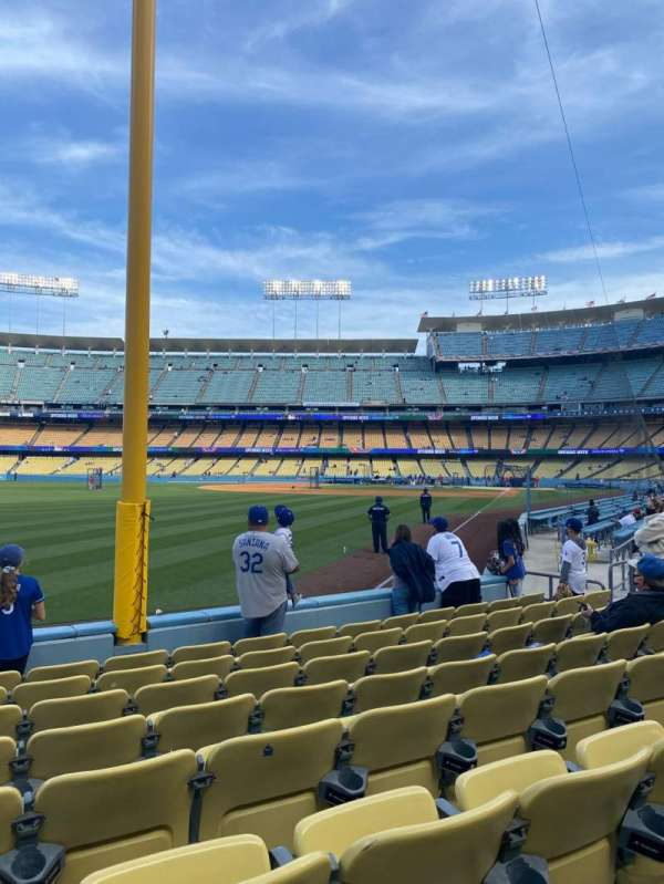 Dodger Stadium, section: 49FD, rangée: G, siège: 15