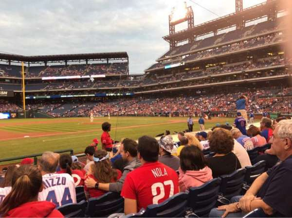 Citizens Bank Park, section: 132, rangée: 7, siège: 7