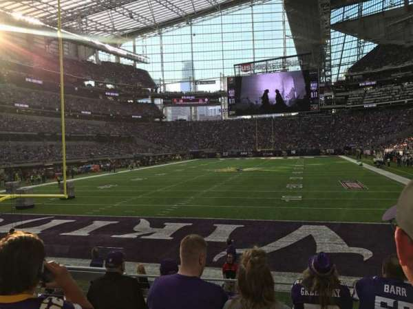 U.S. Bank Stadium, section: 118, rangée: 8, siège: 16