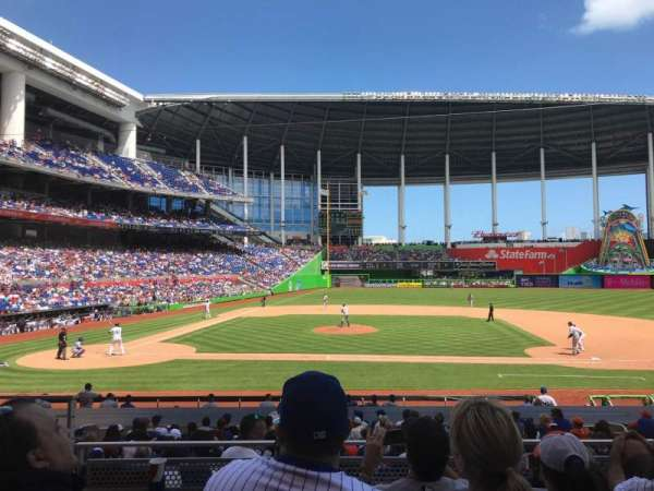 Marlins Park, section: 9, rangée: 4, siège: 16