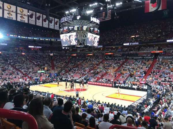 American Airlines Arena, section: 104, rangée: 20, siège: 16