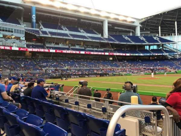 Marlins Park, section: 7, rangée: C, siège: 22