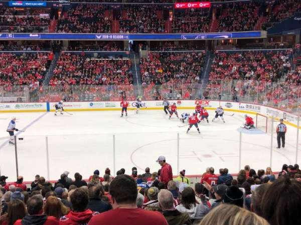 Capital One Arena, section: 101, rangée: Q, siège: 20