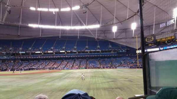 Tropicana Field, section: 150, rangée: W, siège: 8