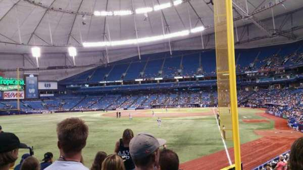 Tropicana Field, section: 139, rangée: Z, siège: 7
