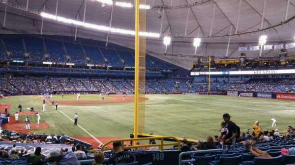 Tropicana Field, section: 138, rangée: jj, siège: 20
