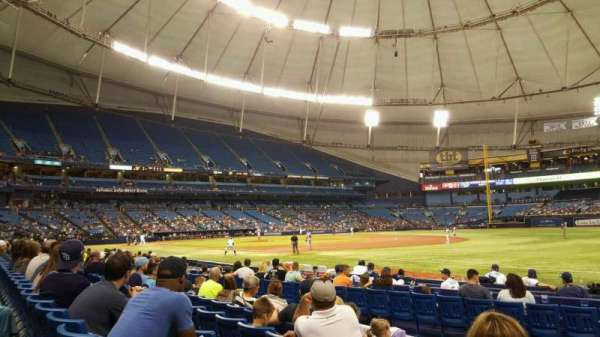 Tropicana Field, section: 130, rangée: M, siège: 3