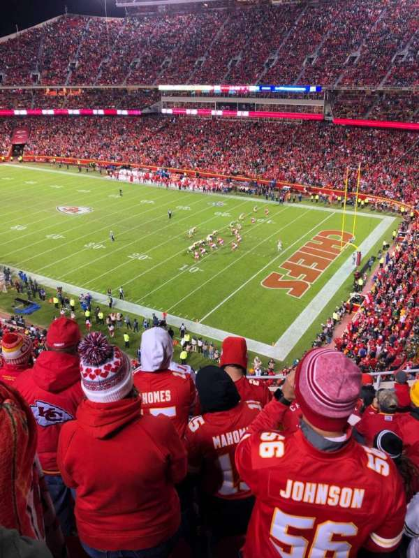 Arrowhead Stadium, section: 341, rangée: 9, siège: 9