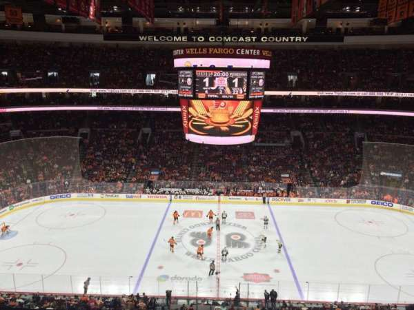 Wells Fargo Center, section: 213, rangée: 6, siège: 5