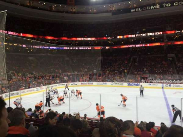 Wells Fargo Center, section: 112, rangée: 13, siège: 14