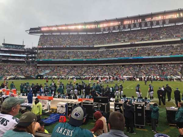 Lincoln Financial Field, section: 102, rangée: 3, siège: 10