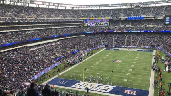 MetLife Stadium, section: 249B, rangée: 16, siège: 20