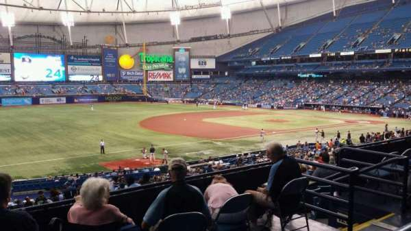 Tropicana Field, section: 129, rangée: PP, siège: 11