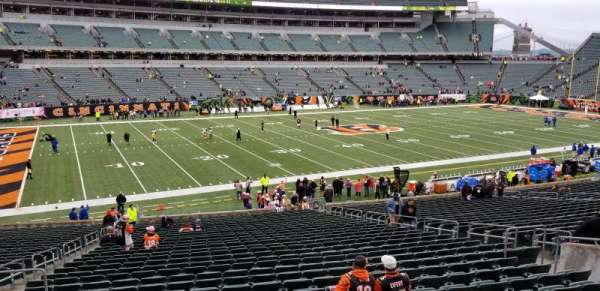 Paul Brown Stadium, section: 114, rangée: 27, siège: 13