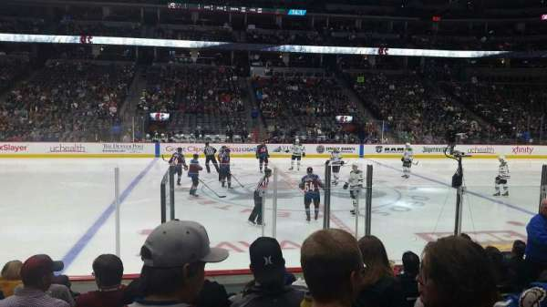 Pepsi Center, section: 126, rangée: 9, siège: 8