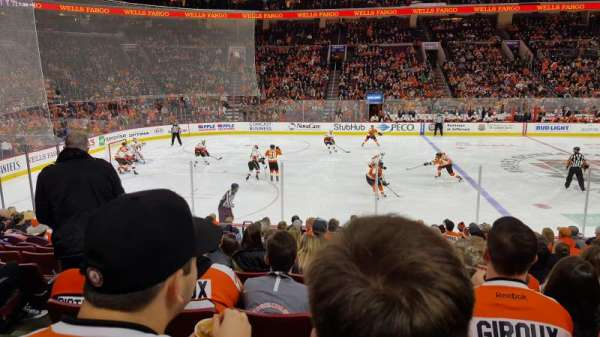 Wells Fargo Center , section: 112, rangée: 14, siège: 4