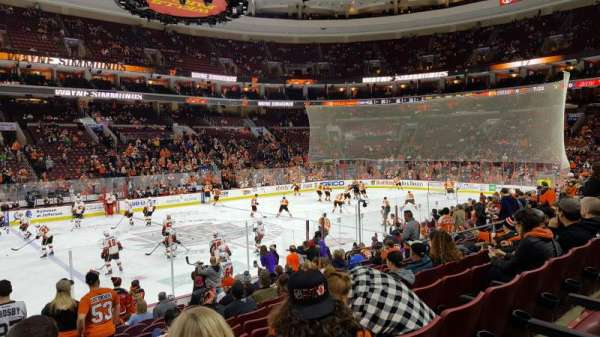 Wells Fargo Center, section: 112, rangée: 14, siège: 4