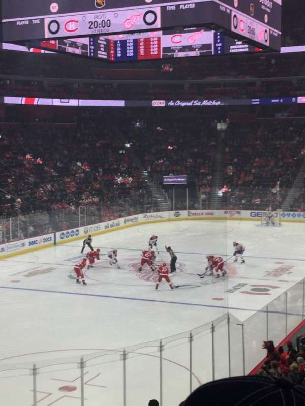 Little Caesars Arena, section: 101, rangée: 19, siège: 6