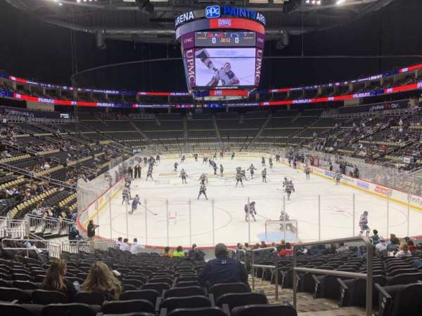 PPG Paints Arena, section: 107, rangée: T, siège: 2