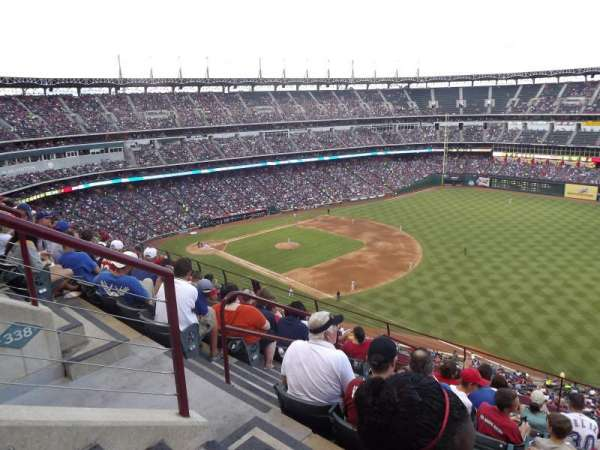 Globe Life Park in Arlington, section: 339, rangée: 9, siège: 5
