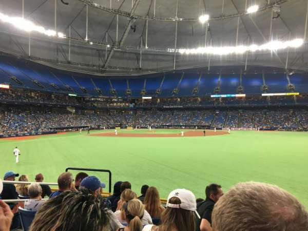 Tropicana Field, section: 146, rangée: Y, siège: 3