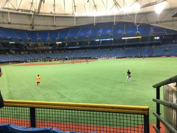 Tropicana Field, section: 150, rangée: V, siège: 12