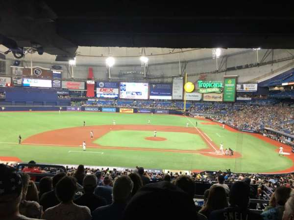 Tropicana Field, section: 111, rangée: UU, siège: 5