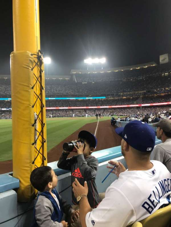 Dodger Stadium, section: 49FD, rangée: A, siège: 12
