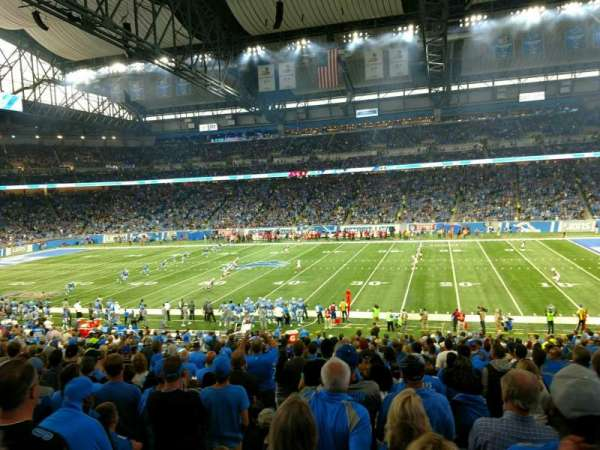 Ford Field, section: 108, rangée: 32, siège: 14