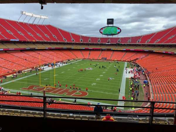 Arrowhead Stadium, section: S234R, rangée: B, siège: 2