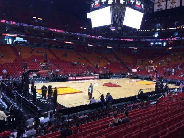 American Airlines Arena, section: 121, rangée: 14, siège: 01