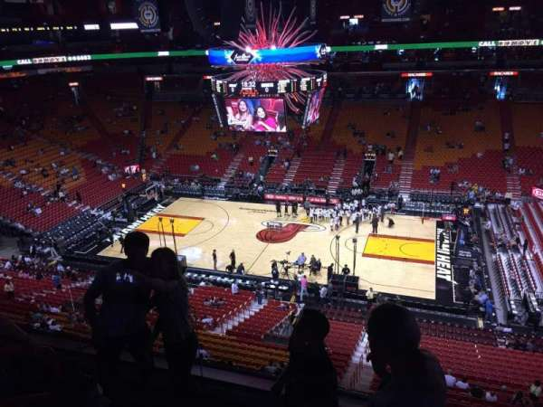American Airlines Arena, section: 323, rangée: 04, siège: 12