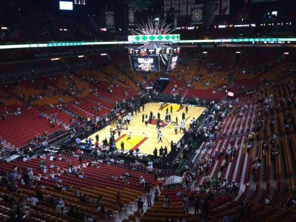 American Airlines Arena, section: 314, rangée: 13, siège: 1