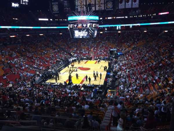 American Airlines Arena, section: 124, rangée: 37, siège: 01