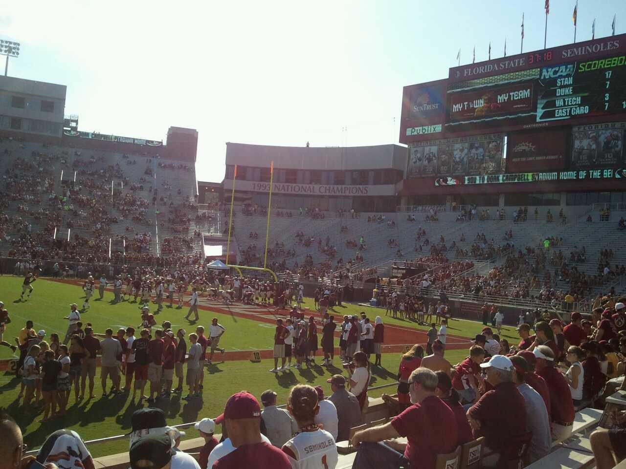 Bobby Bowden Field at Doak Campbell Stadium Section 9 Rangée 10 Siège 19