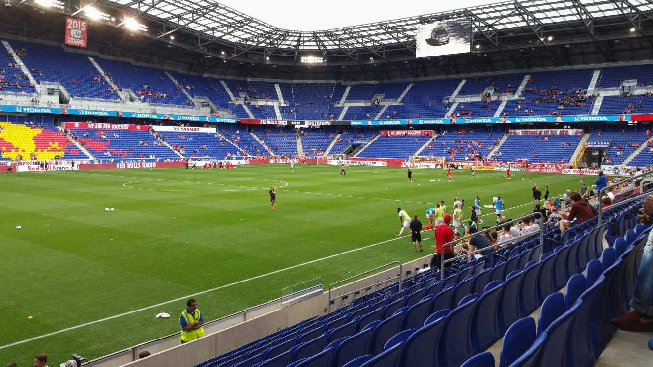 Red Bull Arena (New Jersey) Section 112 Rangée 9 Siège 17