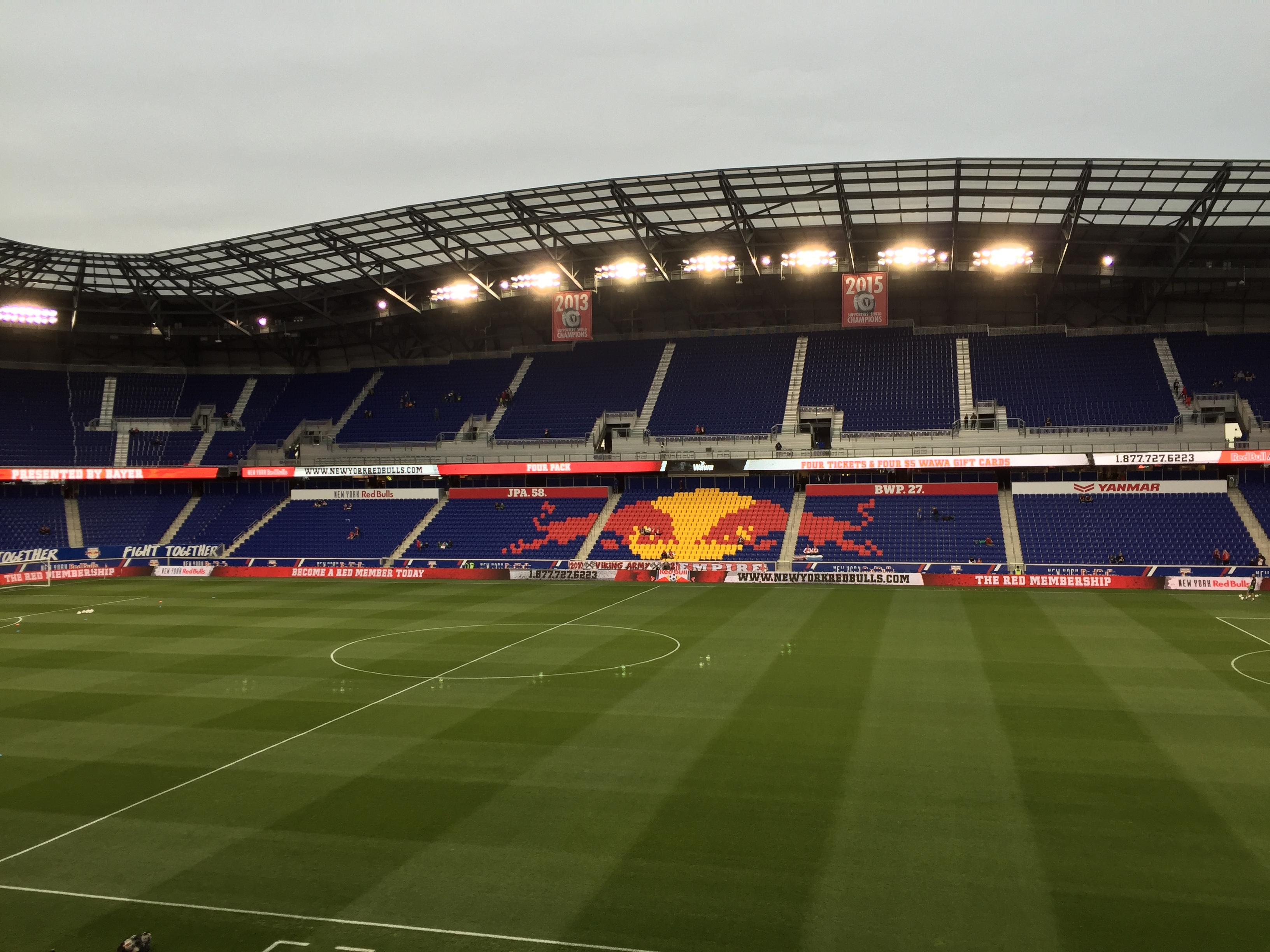 Red Bull Arena (New Jersey) Section 110 Rangée 16 Siège 15