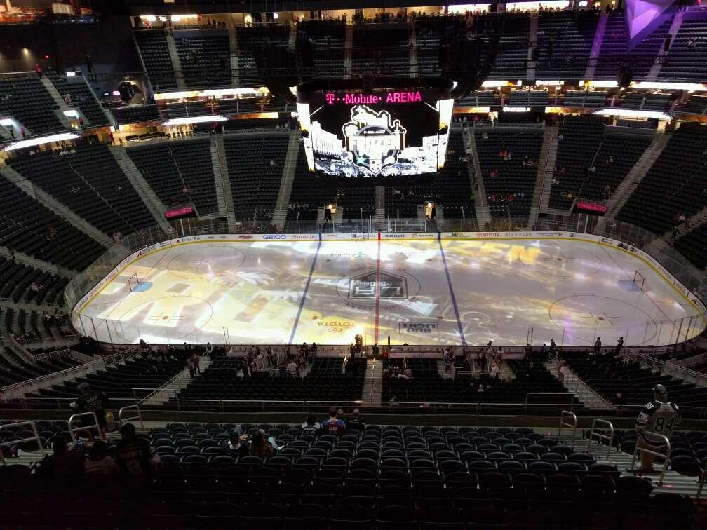 T-Mobile Arena Section 206 Rangée wc